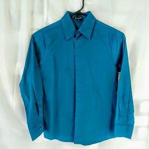 Boys teal dress shirt